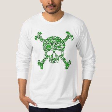 Shamrocks Skull and Crossbones T-Shirt