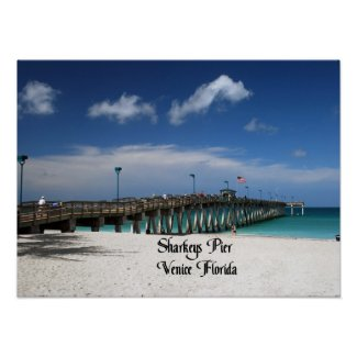 Sharkeys Pier Print