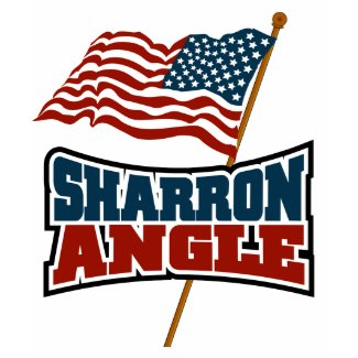 Sharron Angle Waving Flag T-Shirt