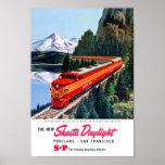 Shasta Daylight Portland San Francisco Poster