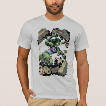 She-Hulk Smashing Through Blocks T-Shirt