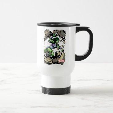 She-Hulk Smashing Through Blocks Travel Mug
