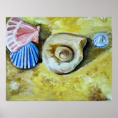 Shells on the Beach Poster print