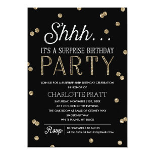 shh surprise birthday party