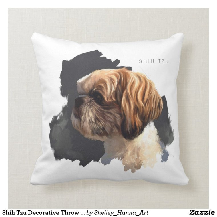 Shih Tzu Decorative Throw Pillow