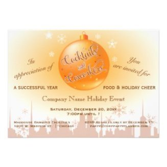 Shiny Gold Corporate Event Holiday Party Invite