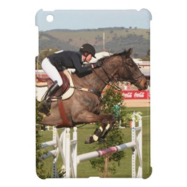 Show jumping horse and rider cover for the iPad mini