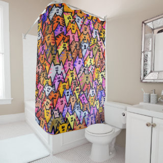 Shower Curtain - 024 - Cats
