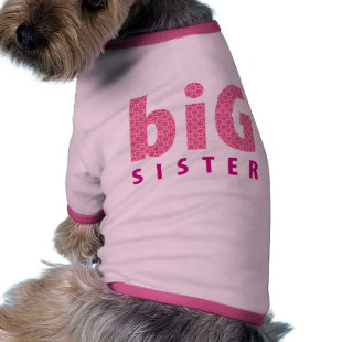 SIBLINGS COLLECTION - big sister {pink} Pet Tee