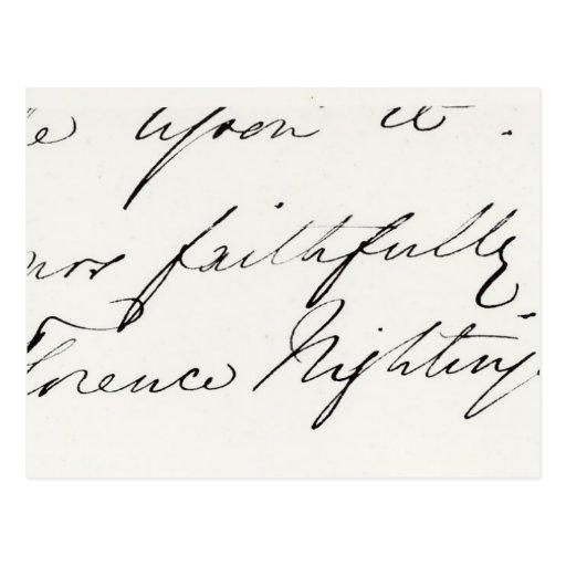 Florence Nightingale Postcards & Postcard Template Designs