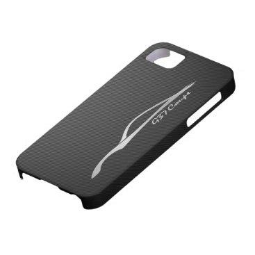 Silber-Silhouette-Logo des Coupé-G37 iPhone SE/5/5s Case
