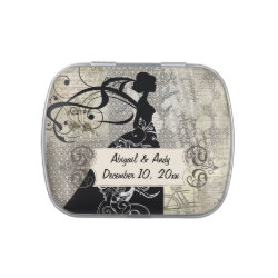Silhouette Bride Custom Wedding Favor Candy Tin