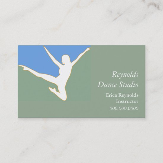 Silhouette Dancer Business Card