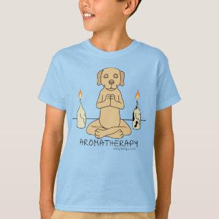 Silly Dog Aromatherapy Meditation Funny Cartoon T-Shirt