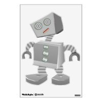 Robot Wall Decals & Wall Stickers | Zazzle