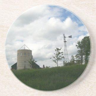 Silo and Windmill Coaster coaster