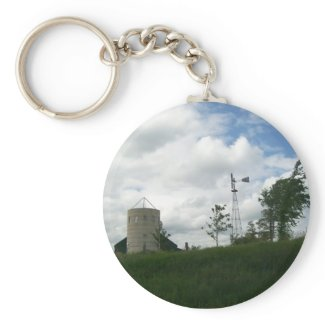 Silo and Windmill Keychain keychain