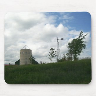 Silo and Windmill Mousepad mousepad