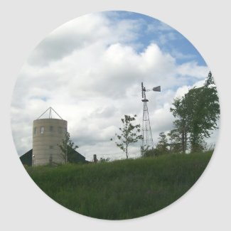 Silo and Windmill Stickers sticker