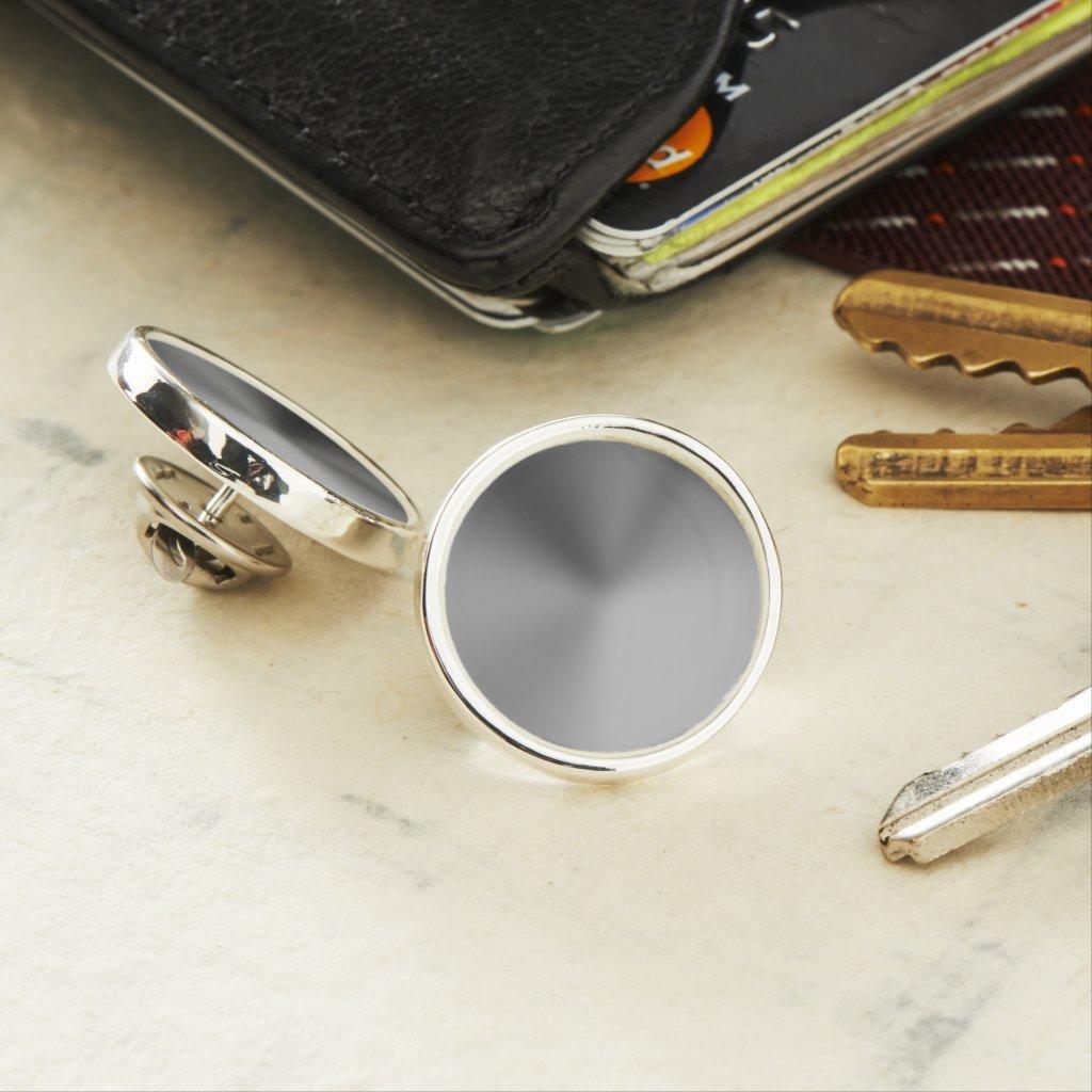 Silver Angle Gradient NOIR Lapel Pin