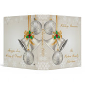 Silver Bells Gold Ribbon Photo Album binder