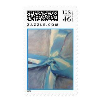 Silver-Blue Ribbon Postage