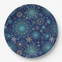 Silver Snowflake Paper Plates