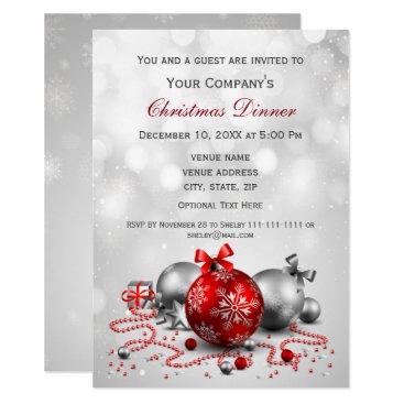 silver Festive Corporate Christmas party Invite