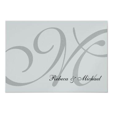 Silver Metallic Wedding RSVP Card