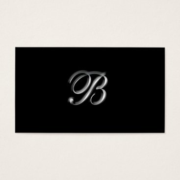 Silver Monogram B business Cards