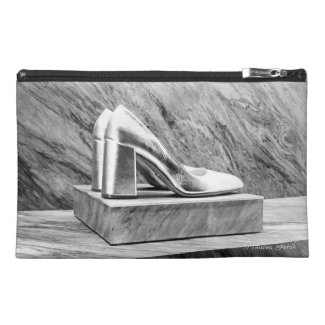 Silver Prada shoes 2015 Travel Accessory Bag