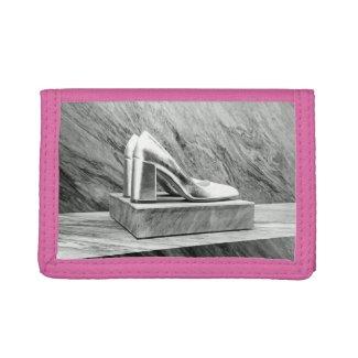 Silver Prada shoes 2015 Tri-fold Wallet