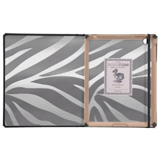 Silver Zebra Metal Texture DODOcases iPads Covers For iPad