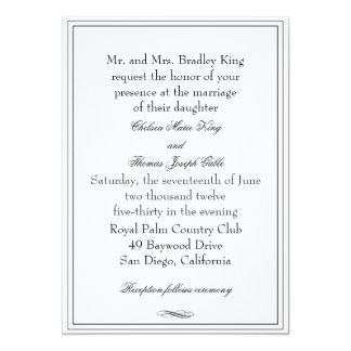 Simple Navy Blue Winter Pocket Wedding Invitations Iwps080