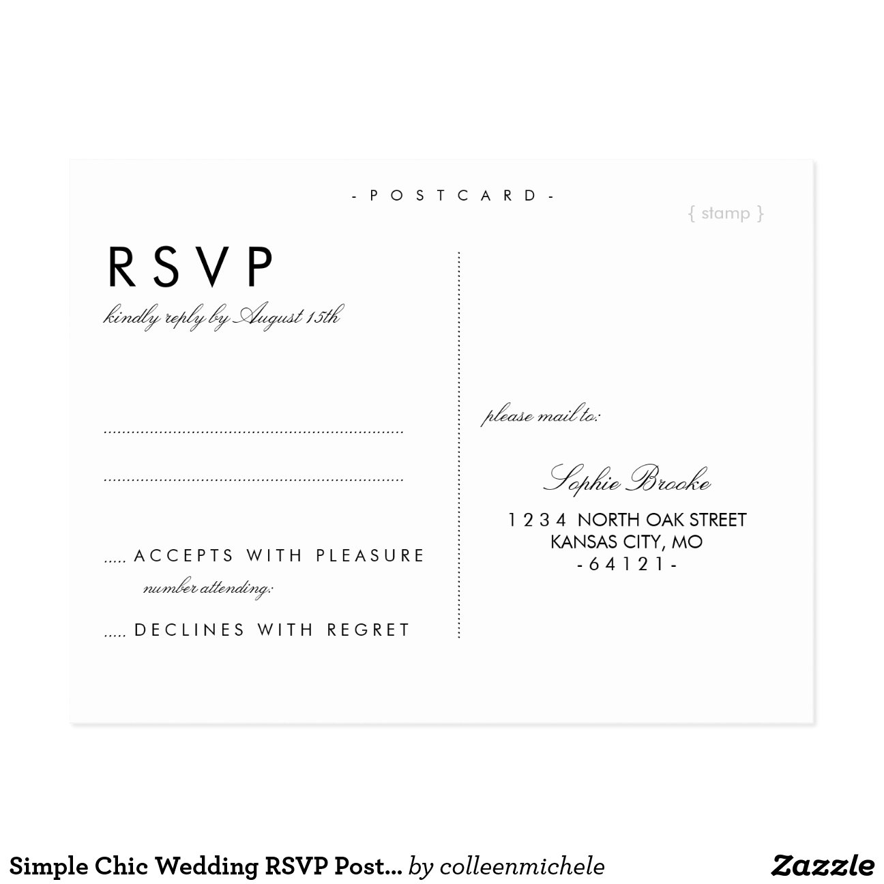 rsvp wedding template