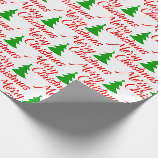 Simple Christmas Tree Wrapping Paper Zazzle