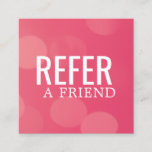 Simple Elegant Pink Pattern Referral Card