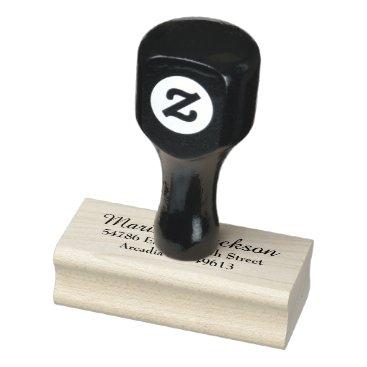 Simple Elegant Return Address Rubber Stamp