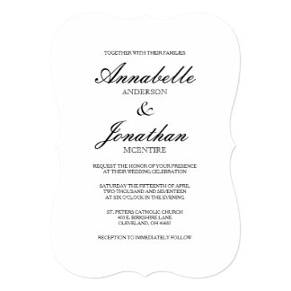 Simple Wedding Invitations With Prepossessing Appearance For A Invitation Design Layout 14