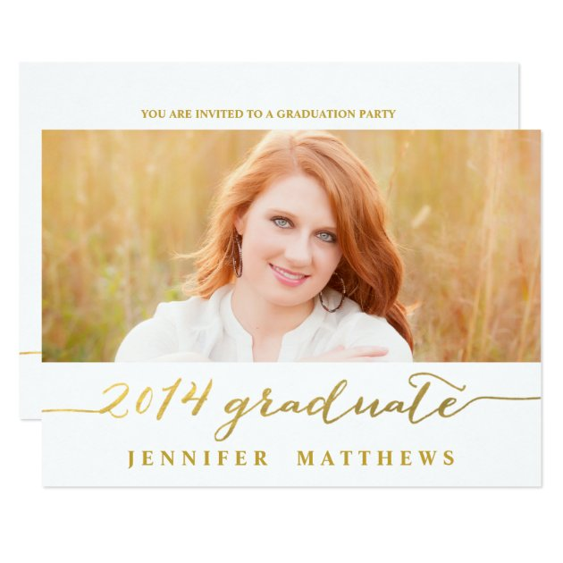 Simple Graduation Party Invitations