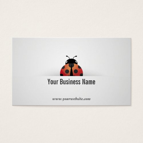 Simple Ladybug Business Card