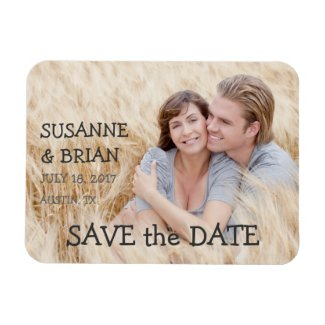 SIMPLE PHOTO SAVE THE DATE   COUNTRY VINYL MAGNET