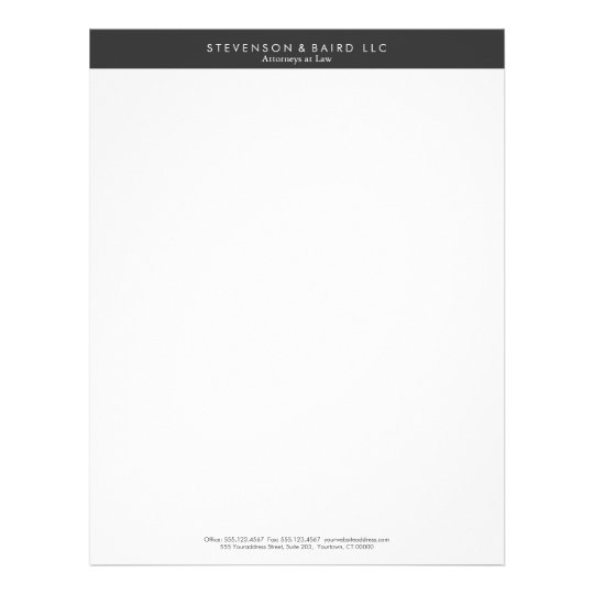 Simple Professional Black And White Letterhead Zazzle Com
