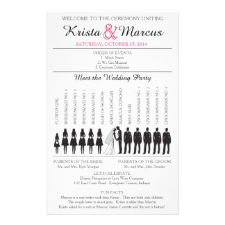 Simple Silhouettes Wedding Program Flyer-4 5.5