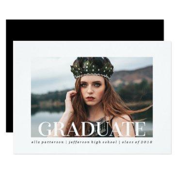 Simple Style | Photo Graduation Party Invitation