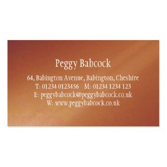 Simple Terracotta Orange Gradient Business Card Business Cards