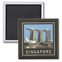 Singapore Marina Bay Sands 2 Inch Square Magnet