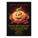 Sinister Jack-O-Lattern Halloween Invitation