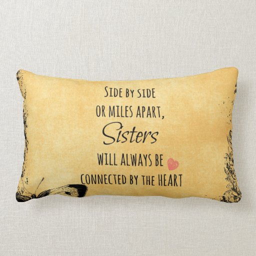 Sister Quote Throw Pillows
