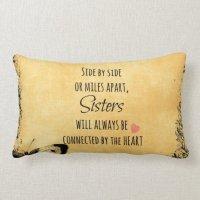 Sister Quote Throw Pillows   Zazzle